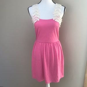 Dina Be from Francesca's Pink Dress with Lace L